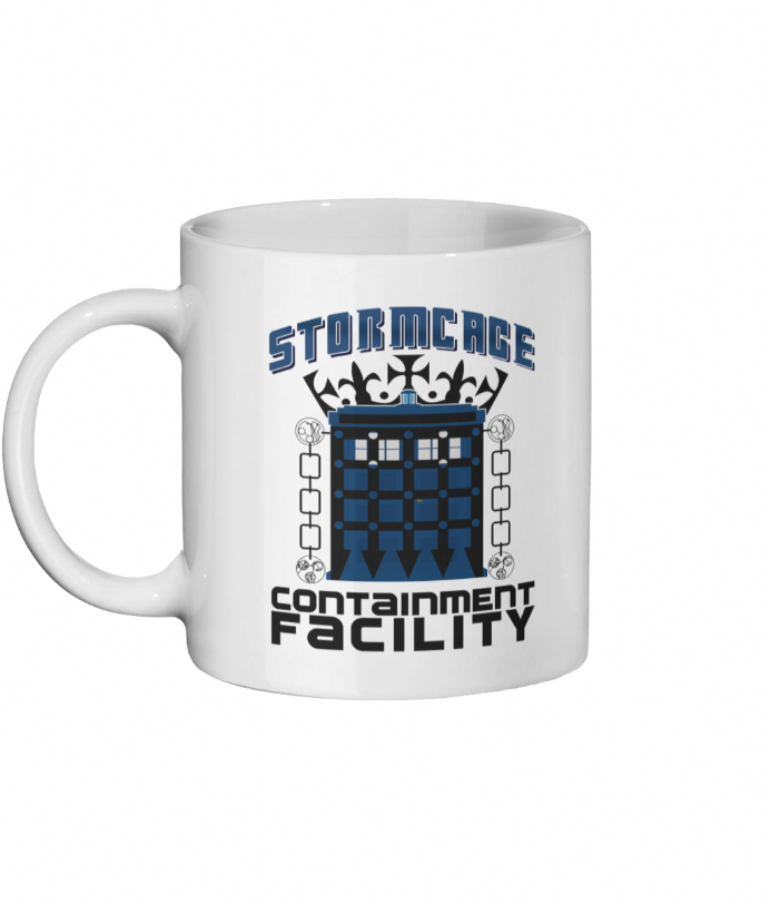 Stormcage Containment Facility Ceramic Mug Printed Design Inspired by (Dr) Doctor Who